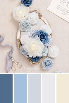 Color Schemes Colour Palettes, Paint Color Schemes, Bedroom Color Schemes, Colour Pallette, Color Palate, Color Combos, Palette Art, Blue Palette, Beautiful Color Combinations