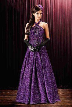 Silk Designer Party Wear Gown in Purple Colour