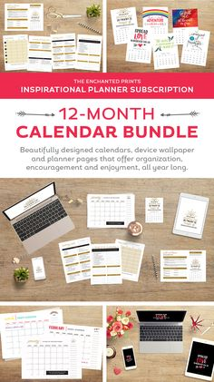 Organized for the Year 12 month Calendar Bundle from Elegance and Enchantment   Free download wallpapers on TodaysCreativeLife.com