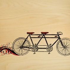 Bicycle Built For Two Wall Art.