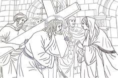Sesta stazione - Santa Veronica asciuga il volto di Gesù Disegno da colorare