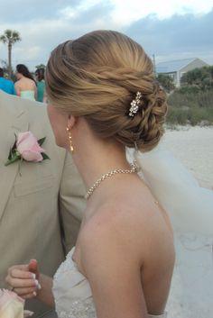 My beach wedding hair