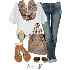 love this outfit... need a scarf like that