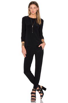 Norma Kamali Go Travel 3 Pack Top, Pant, & Dress in Black