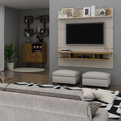 Living Room Design Small Spaces, Small Living Rooms, Small Media Rooms, Living Room Tv Unit Designs, Narrow Living Room, Accent Walls In Living Room, Basement Living Rooms, Living Room Entertainment, Mounted Tv Ideas Living Rooms