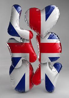 London – 3D typography