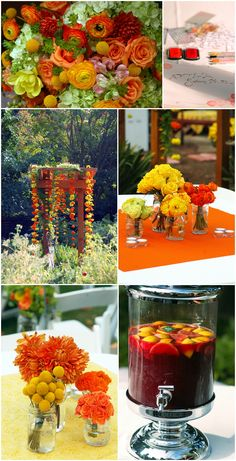 Wonderful fall colors and wedding ideas!