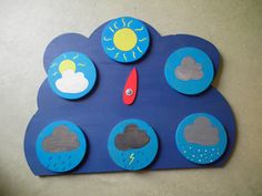 El tiempo - The weather (Español - Spanish) Weather Activities For Kids, Weather Crafts, Preschool Activities, Diy For Kids, Crafts For Kids, Weather And Climate, Beginning Of The School Year, Kids Corner, Kids Cards