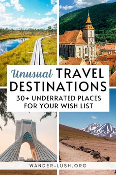 The very best quirky, unconventional and unusual holiday destinations for travellers who love to go their own way. #Travel | Alternative travel destinations | Unusual travel destinations | Travel off the beaten path | Alternative Europe travel | Alternative traveling | Unusual vacation ideas | Unusual vacation destinations Holiday Destinations, Vacation Destinations, Vacation Ideas, Cool Places To Visit, Places To Go, Travel Around The World, Around The Worlds, Unusual Holidays, Travel Guides