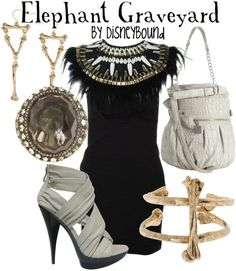 Okay DisneyBound.now you're just showing off.Elephant Graveyard from The Lion King! Disney Themed Outfits, Movie Inspired Outfits, Disney Bound Outfits, Movie Outfits, Casual Cosplay, Character Outfits, Disneybound, Disney Style, What To Wear
