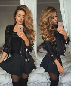 I went straight for the shower and did my usual shower once I came out I dried my hair and got changed into an all black outfit since it was fall, I wore some long black boots with some black tights and a black skirt and a black shirt with a short...