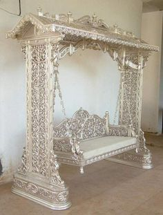 """""""Wedding Stage Swing - 02"""" -- This is an Indian product for a wedding, but the intricacy of it blew me away."""