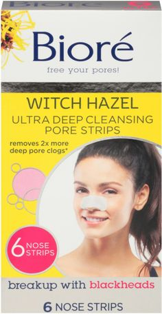 Bioré Ultra Deep Cleansing Pore Strips work like a super-magnet to remove more blackheads than before to give you the deepest clean. These improved strips lock into and remove deep-down dirt, oil and blackheads for the deepest clean. Brown Spots On Skin, Skin Spots, Get Rid Of Warts, Remove Warts, Home Remedies, Natural Remedies, Detox Maske, Types Of Warts, Underarm Hair Removal