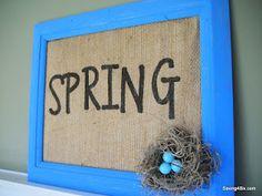 Spring decor.