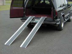 "Telescopic Wheelchair Tracks - 7' 9"" long – Dambach Ramps - aluminum ramps for wheeled equipment"