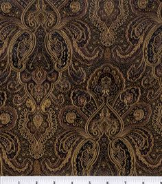 Brocade Fabric-Black-Bronze Tapestry : special occasion fabric: (5 yards; simplicity dress shirt) $10.00 per yard