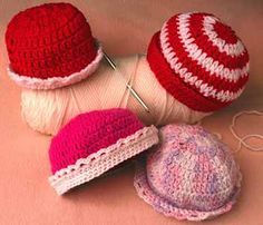 Caps for Newborn FREE Patterns - Knit & Crochet! Caps for Good Action Kit today for more background information about the campaign, basic crochet and knit patterns, where t...