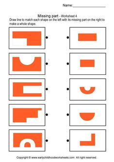 Free Worksheets for Pre K, Kindergarten, and Grade Visual Perceptual Activities, Abc Activities, Fun Worksheets For Kids, Math For Kids, Math Challenge, Thinking Skills, Special Education, Kids Learning, Kindergarten