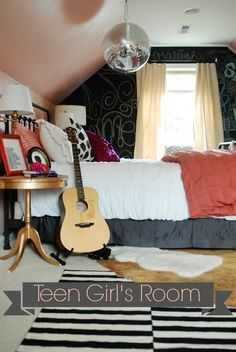 This teen girl's room was created with love and intention and will inspire you in your next home decorating project!  Great tips on adding personality to any space! via lifeingrace