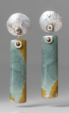 Holly Masterson Owyhee Jasper Earrings   Santa Fe Dry Goods & Workshop #hollymasterson #owyheejasper #jasper #earrings #jewelry #gift #santafe #santafedrygoods