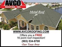 East Texas:  www.avcoroofing.com Contact us for an A+ roofing, & seamless rain gutter company. #roofing #gutter
