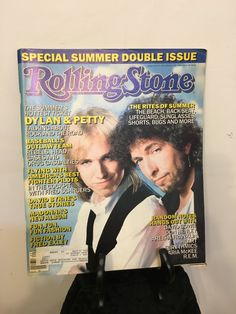 1986 Dylan and Petty Rolling Stone Magazine, Vintage Dylan and Petty Rolling Stone Magazine, Rolling Stone Magazine, Gifts under 25 by RetrosaurusRex on Etsy