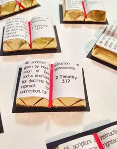I found these cute scripture treat handouts and had to make them when I was preparing a Relief Society lesson from Boyd K. Packer on...