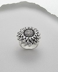 SS Sunflower ring Sunflower Ring, Sunflower Jewelry, Sterling Jewelry, Gold Jewelry, Jewellery Uk, Cremation Jewelry, Engraved Rings, Costume Jewelry, Silver Rings