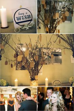 Hang a Wish Tree.  Great for a wedding or baby shower.