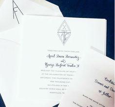 Wedding, wedding invitation, wedding crest, black and white wedding, velvetsedge.com