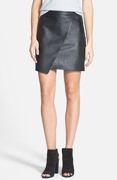Leather Wrap Front Skirt - Madewell