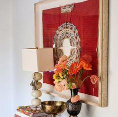 12 Inspiring Ways To Creatively Display Your Textile Collection – Lamour Artisans African Living Rooms, Sunflower Kitchen Decor, Textile Market, Southern Living Homes, Ikea Frames, Spanish Style Homes, House Colors, Boho Decor, Wall Decor