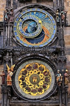 Astrological Clock Tower, Old Tower Square, Prague, Czech Republic Stock Image – Image of dials, time: 129245379 Cathedral Architecture, Amazing Architecture, Architecture Details, Prague Clock, Prague Astronomical Clock, Europe Centrale, Prague Czech Republic, Old Town Square, Antique Clocks