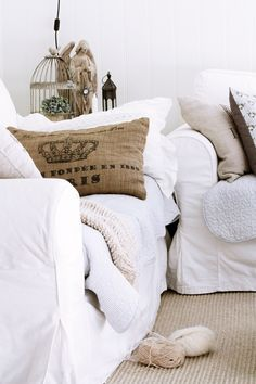 hessian bag cushions for deck daybed