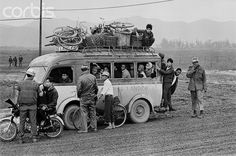 28 Feb 1968, Hue, South Vietnam --- US and ARVN Soldiers Questioning Bus Passengers 1968 --- Image by © Bettmann/CORBIS