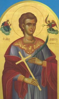 Demetrios of Chios (Feast Day - January Verses Thessaloniki is not alone in having its boast. Chios also has a Martyr named Dem. Greek Icons, Roman Church, Archangel Raphael, Chios, Religious Paintings, Religious Images, Catholic Saints, Believe In God, Orthodox Icons