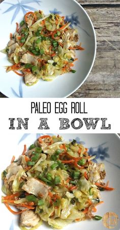 Paleo Egg Roll In a Bowl - this is a super healthy lunch or dinner that's also gluten free!