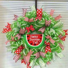 Watermelon wreath  Camo Girl Custom Wreaths