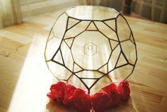 Geometric Glass Terrarium / Handmade Glass Planter / Stained Glass Terrarium/ Planter For Indoor Gardening / Home Decor/ Wedding Centerpiece