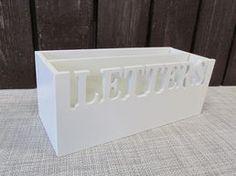 Kirjeteline, puinen, 25x10x10cm