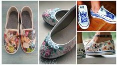 ZAPATOS-DECORADOS-DECOUPAGE Sharpie Shoes, Baby Shoes, Slip On, Ballet, Sneakers, Clothes, Ideas, Shoes, Carnival