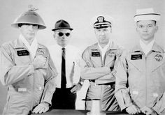 Astronaut gag photo (L to R): Ed White, Frank Borman, Jim Lovell, and Michael Collins