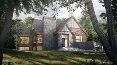 New Modern House, Modern House Design, Architecture Résidentielle, Sims Building, Contemporary Style Homes, Modern Farmhouse Exterior, Reno, Cottage Homes, Exterior Design