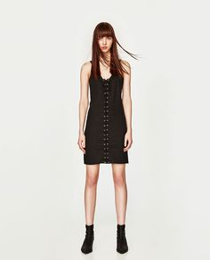 ZARA - WOMAN - STRAPPY LACE-UP DRESS WITH GROMMETS