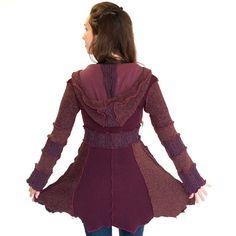 Custom Upcycled sweater coat with pockets by DervishClothing