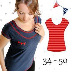 Produktfoto von Anni Nanni für Schnittmuster AnniNanni Schnitt 8 Schnelles Shirt