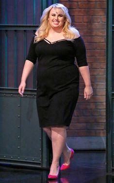 REBEL WILSON Curvy Women Outfits, Curvy Women Fashion, Plus Size Outfits, Plus Size Fashion, Clothes For Women, Fat Fashion, I Love Fashion, Curvy Inspiration, Rebel Wilson