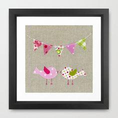 Pink+Birds+Framed+Art+Print+by+Borboleta+Rosa+(Marta+R.)+-+$35.00