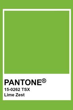 Pantone Lime Zest