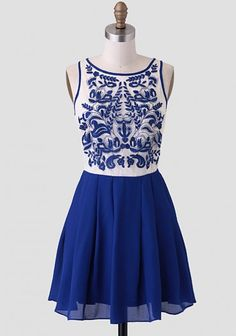 Chateau Fontainebleu Embroidered Dress, Would love to wear in Italy...Tuscany hillside with a tall dark Italian man preferably